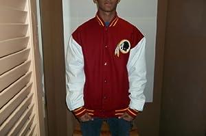 Washington Redskins Reversible Wool Leather Jacket by NFL