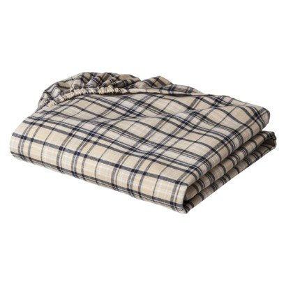 Plaids and Stripes Boys Khaki Plaids Crib Sheet