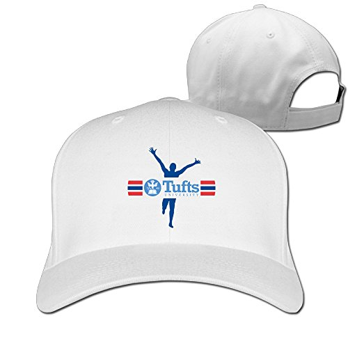 [WG Custom Awesome Casual Tufts University TU Mark Hiphop Visor Cap White] (Jumbo Hip Hop Adult Hat)