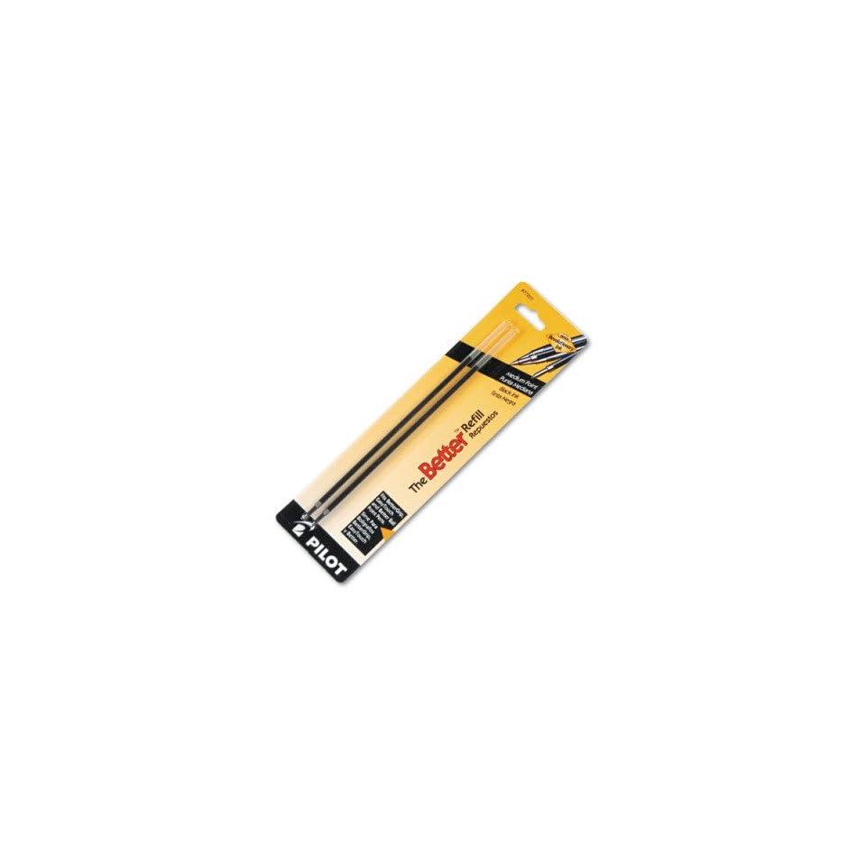 Refills for Pilot Nonretractable Ballpoint Pens   Non retract Better/BetterGrip/EasyTouch Ballpoint, Med, BLK, 2/pk(sold in packs of 3)