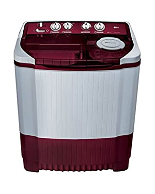 LG P7853R3S Semi-automatic Washing Machine (6.8 Kg, Burgundy)