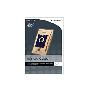 Genuine Electrolux S-Bag Classic Vacuum Bag, Set of 5