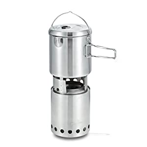Solo Stove Titan & Solo Pot 1800 Camp Stove Combo: Woodburning Backpacking Stove... by Solo Stove