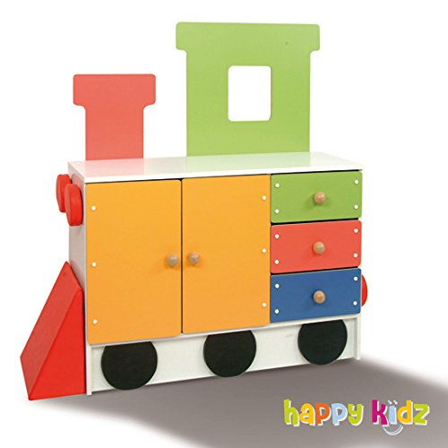 "Kinderschrank ""Happy Train"" Lokomotive"