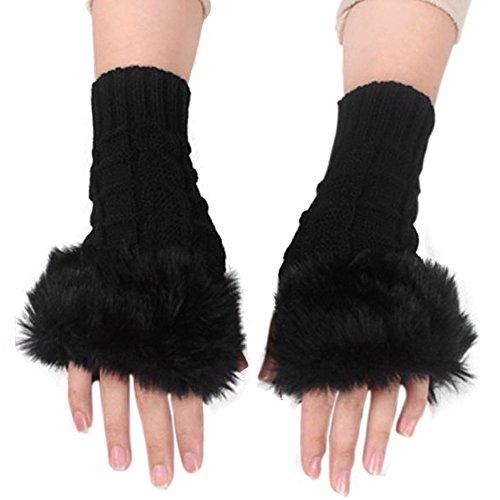 eubuy-all-match-faux-fur-furry-knit-women-gloves-stretchy-half-finger-arm-warmer-gloves