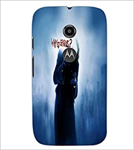 Printdhaba Joker D-4845 Back Case Cover For Motorola Moto E2