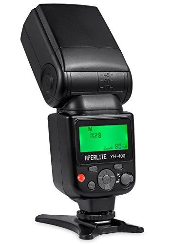 Aperlite YH-400フラッシュ キヤノン・ニコンデジタル一眼レフカメラ用 ワイヤレスS1 S2モード対応