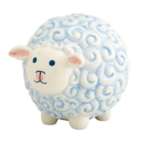 Gorham Merry Go Round Little Boy Sheep Bank, Blue - 1