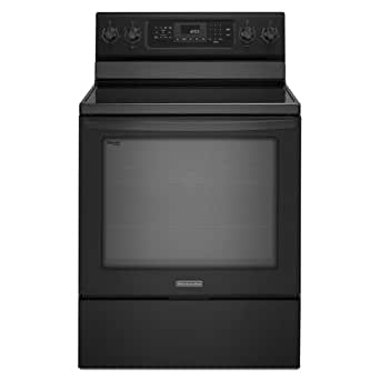 kitchenaid kers202bbl architect ii 30 black electric smoothtop range