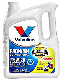 Valvoline vv142 5W-20 Premium Conventional Motor Oil, 1 Gallon - Pack of 4