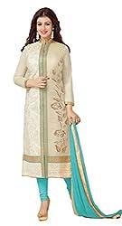 Lakshmi Fashion Creation Women's Cotton Dress Material ( Beige )