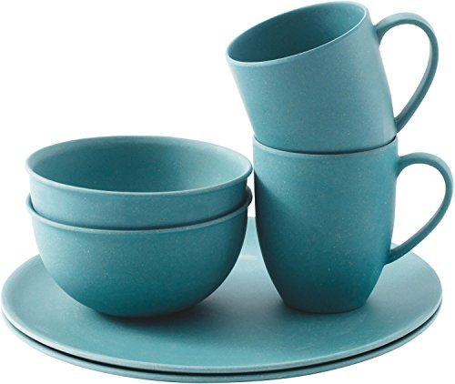 Outwell-Bamboo-Dinner-Set-2-Person-Blue-by-Outwell