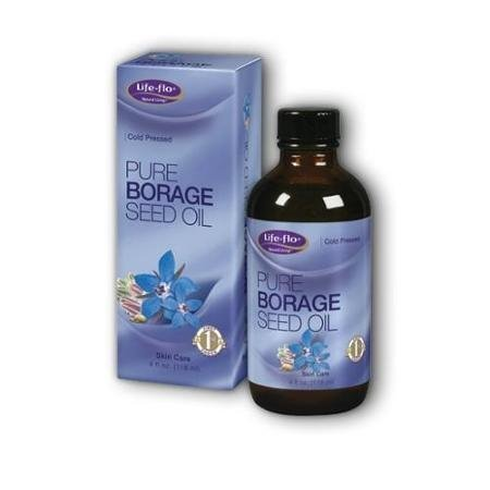 Pure Borage Seed Oil Life Flo Health Products 4 oz Liquid WLM