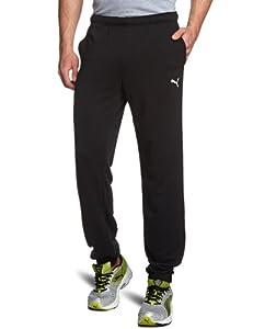 PUMA Herren Hose ESS Sweat Pants, Terry, CL., Black-White, S, 823995 01