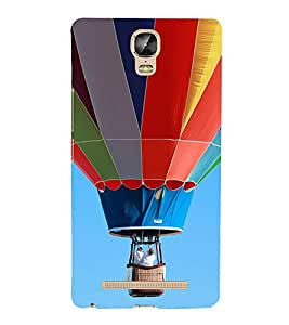 Multi Colour Hot Air Balloon 3D Hard Polycarbonate Designer Back Case Cover for Gionee Marathon M5 Plus