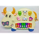 Reckonon Funny And Educational Musical Cow Piano Toy With Keys For Toddlers And Above