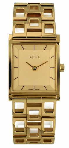Alfex Women's Quartz Watch Analogue Display and Stainless Steel Strap 5683_379