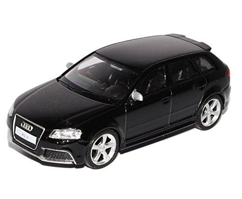 Audi-A3-8P-Sportback-RS3-Schwarz-5-Trer-2003-2013-143-Modellcarsonline-Sonderangebot-Modell-Auto-mit-individiuellem-Wunschkennzeichen