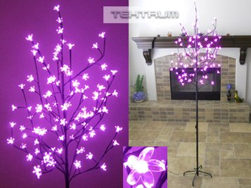 Tektrum 6.5' Tall/108 Pink LED Lighted Cherry Blossom Flower Tree for Christmas/Holiday/Party