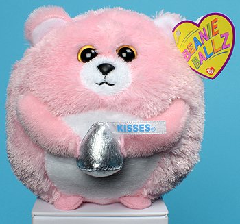 Ty Beanie Ballz Kisses the Pink Hershey Bear