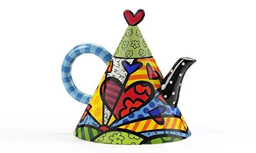 Romero Britto Ceramic 55oz Teapot, A New Day (Britto Teapot compare prices)