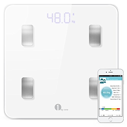 1byone-digital-smart-scale-body-scale-bathroom-scale-wireless-body-fat-scale-with-ios-and-android-ap