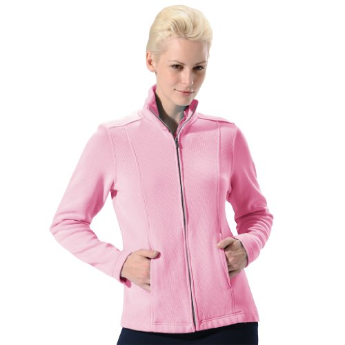 Monterey Club Ladies Classic Long Sleeve Zip-Up French Rib Jacket #2707 (Cotton Candy, X-Large)