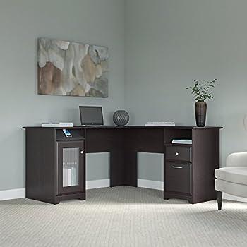 Cabot L Shaped Computer Desk in Espresso Oak