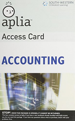 Aplia Access Card for Accounting (Unopened)