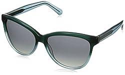 Marc by Marc Jacobs Women's MMJ411S Wayfarer Sunglasses, Green Aqua, 57 mm