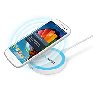 TechPro Qi-Enabled Single Position Travel Mini Wireless Charging Pad For All Compatible Qi Enabled Devices - Retail Packaging