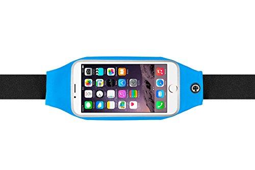"""Marsupio. Cintura sportiva per correre e fare attività all'aria aperta. Marsupio cintura impermeabile, elastico e regolabile per i telefoni cellulari fino a 5""""5 (iPhone 6S, iPhone 6S plus, Samsung S5/S6, Note 4...) Running bag.Blu"""