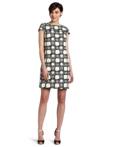 Julie Dillon Women's Printed Cap Sleeve Sheath Dress