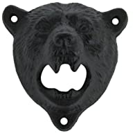 Cast Iron Wall Mount Grizzly Bear Tee…