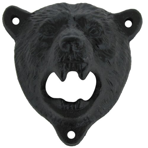 Cast Iron Wall Mount Grizzly Bear Bottle Opener