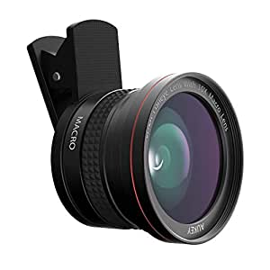 AUKEY Ora iPhone Lens, 180° Fisheye Lens + 10x Macro Clip-on Cell Phone Camera Lens Kit for Samsung, Android Smartphones, iPhone