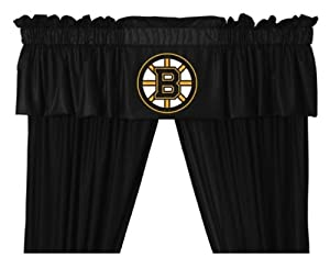 Boston Bruins Window Treatments Valance and Drapes