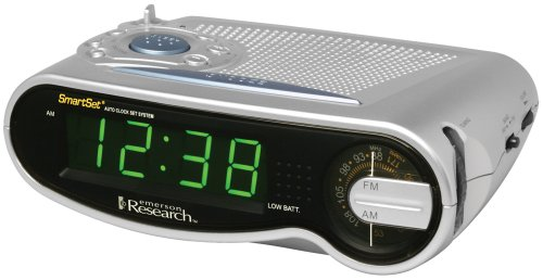 emerson radio cks1701 smartset am fm clock radio with large led time display. Black Bedroom Furniture Sets. Home Design Ideas