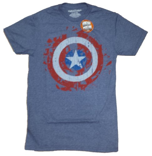 Marvel Comics Captain America Distressed Shield Graphic T-Shirt