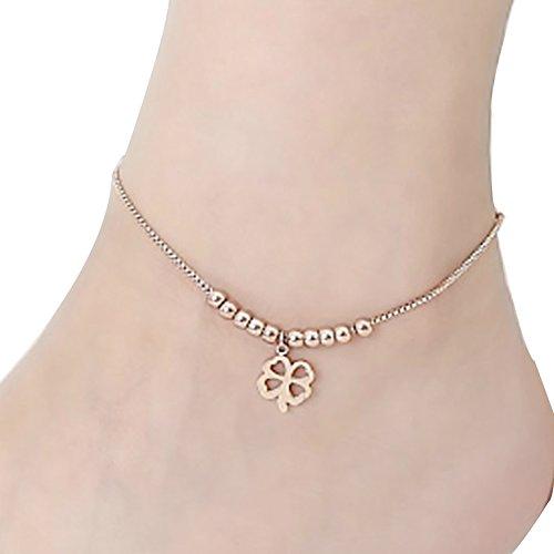 PlusMinus New Womens Bead Cute Lucky Clover 18K
