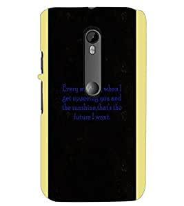 PrintDhaba Quote D-4966 Back Case Cover for MOTOROLA MOTO G3 (Multi-Coloured)