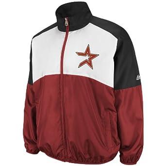 MLB Houston Astros Sports Night Lightweight Full Zip Jacket by Majestic