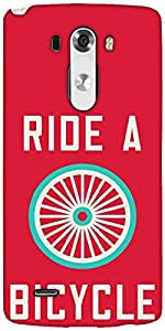Snoogg Ride A Bicycle Poster Large 2849 Designer Protective Back Case Cover For LG G3