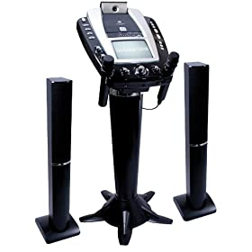 The Singing Machine STVG-1009 Pedestal CD-G Karaoke System with Tower Speakers