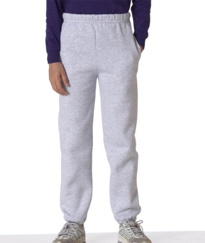 Jerzees Youth Super Sweats Fleece Pants With Pockets - Ash 4950B L front-1089527