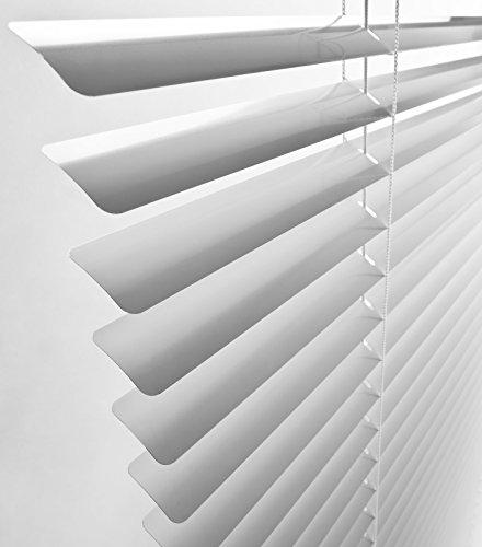 Jalousien - Klemm-Jalousie - 110 x 230 cm WEISS - Aluminium - (mit Klemmhaltern, Magnete, Halter zum Schrauben)
