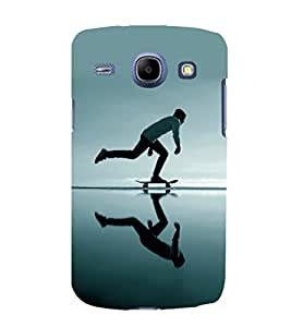printtech Skateboard Man Mirror Back Case Cover for Samsung Galaxy J1 (2016 EDITION )/ J120F (Global); Galaxy Express 3 J120A (AT&T); J120H, J120M, J120M, J120T Also known as Samsung Galaxy J1 (2016) Duos with dual-SIM card slots