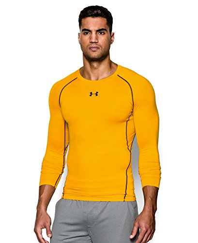 Under Armour Men's HeatGear Armour Long Sleeve Compression Shirt, Steeltown Gold/Black, XX-Large