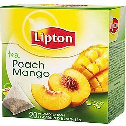 Lipton Peach Mango Black Tea Pyramid Luxury Tea Bags with Real Tea Leaves Exclusive Collection 4 Boxes IMPORTED