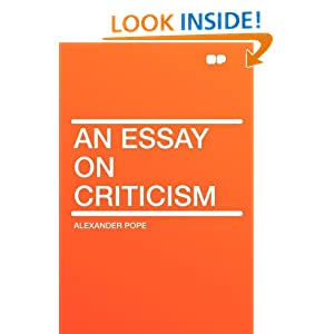 essay on criticism translation